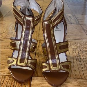 Brown and Gold Bakers Heels